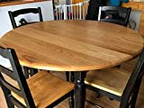 Round Oak Table with Osmo Polyx-Oil Pure