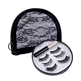 Mqueen Magnetic Eyelashes with MagneticEyeliner Kit, 3 Different Styles of False Eyelashes by Natural Look with Reusable makeup pouch, No Glue Needed