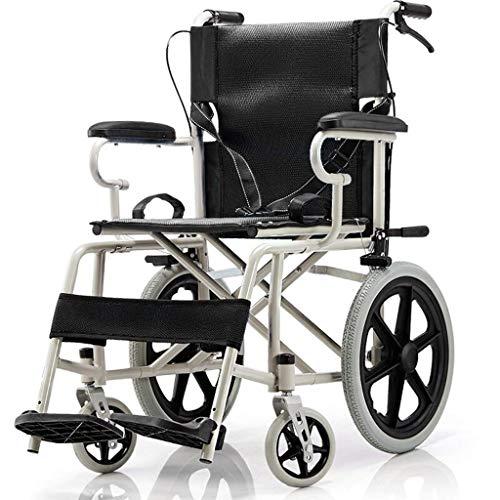 L-Y Rolstoel Vouwen Oude Man Draagbare Rolstoel Rolstoel Kruiwagen Handicapped Substitute Walker Solid Tire Opblaasbare Oranje -8484Zelfrijdende Rolstoelen, zwart, a