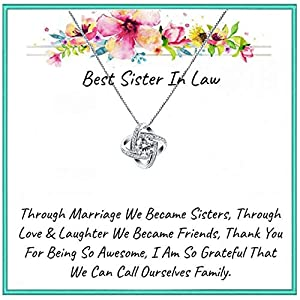 Onepurposegifts Sister in Law Gifts, Sisters in Law Gift Necklace, Sister in Law Birthday Gift, Sister in Law Jewelry