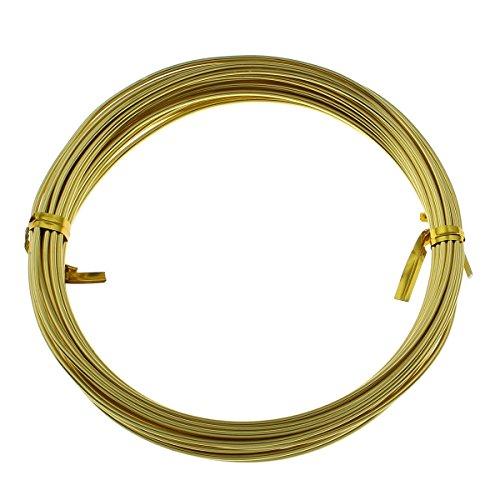 Perlin 5m ALUMINIUMDRAHT Gold 1,5mm SCHMUCKDRAHT BASTELN BIEGEDRAHT Aludraht METERWARE BASTELDRAHT PERLENDRAHT DEKODRAHT LACKDRAHT C95