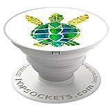 PopSockets PopGrip - Support et Grip [Non Interchangeable] pour Smartphones et Tablets - Turtle Love