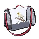 Mumax, borsa da viaggio per pappagalli con supporto in legno, traspirante, leggera, ideale per le compagnie aeree all'aperto, aereo, approvato per il trasporto dell'auto, borse per uccelli (rosso)