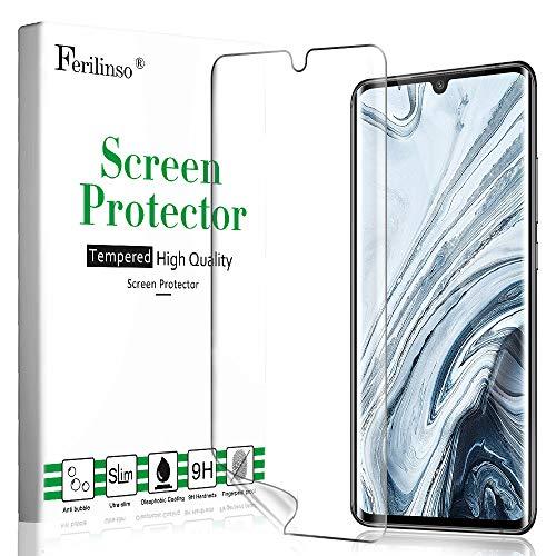 Ferilinso Schutzfolie Kompatibel mit Xiaomi Mi Note 10/ Note 10 Pro Schutzfolie, Ersatz-Bildschirmschutzfolie High Sensitive Full Coverage 3D PET Flexible TPU-Folie für Xiaomi Mi Note 10/ Note 10 Pro