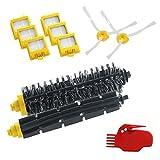 Tonsee 1 x Borsten und Schläger Pinsel Set + 6 x Gelb Hepa Filter für Irobot Roomba 700er Serie Hepa Nachschub Kit 760 770 780 790 Artikel -