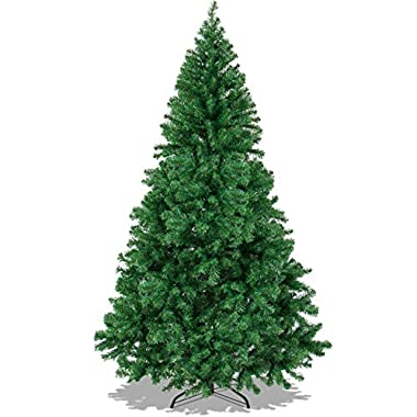 Best Choice Products 6ft Premium Hinged Artificial Christmas Pine Tree w/Easy Assembly, Solid Metal Legs, 1000 Tips - Green