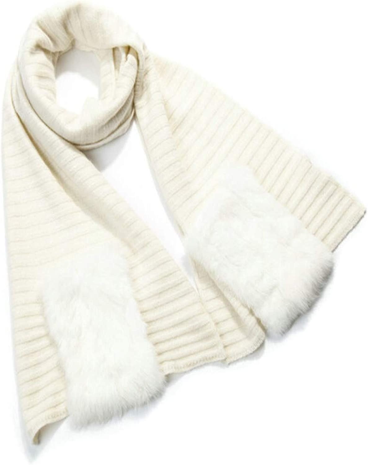 HYLIU Infinity Scarf Female winter scarf with pocket shawl Fashion warm white S
