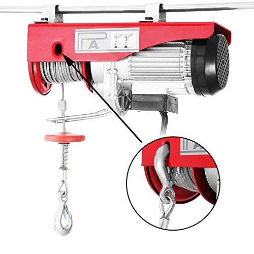 Mophorn Elektrische Hebebühne 880LBS 400 KG Overhead Elektrische Hebebühne 220 V Elektrische Seilzug Fernbedienung Garage Auto Shop Overhead Lift (880LBS 400 KG)