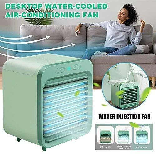 liyuhang Portable Air Conditioner Fan,Personal Space Evaporative Air Cooler Rechargeable USB Desk Fan, 3 Speeds, Super Quiet Humidifier Misting Cooling Fan for Home Office Bedroom