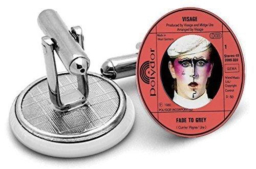 Steve Strange Visage imprimé disque Homme manchettes maillon ,anniversaires ,wedding.groom