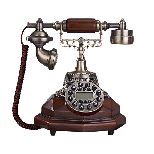Fournir Un téléphone à la Maison, Rétro Téléphone Alliage Décoration Bureau À Domicile Téléphone Antique Créative Mode Téléphone Fixe Rouge Ligne Fixe européenne,