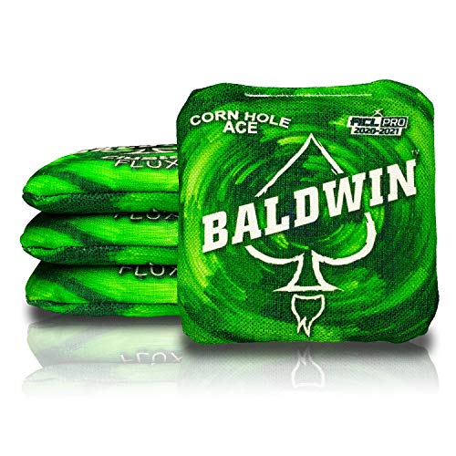 CornholeAce Cluster Flux - James Baldwin - Green (Set of 4 Bags) - ACL Pro Stamped