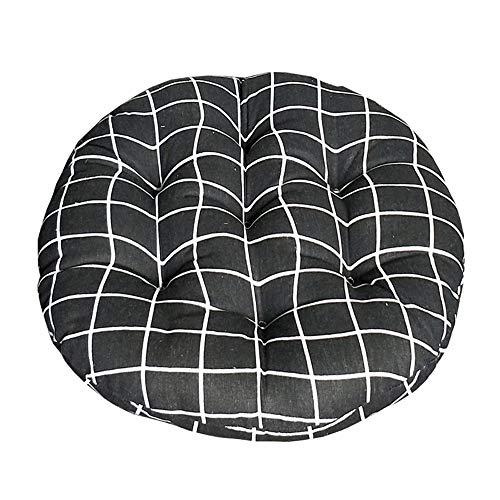 Morbuy Cuscini per Sedia Forma Rotonda, 100% Cotone Spessa Comoda Seduta Traspirante Cuscino per Pavimento per Interno ed Esterno mobili e Arredamento da Giardino (40 * 40,Haig)