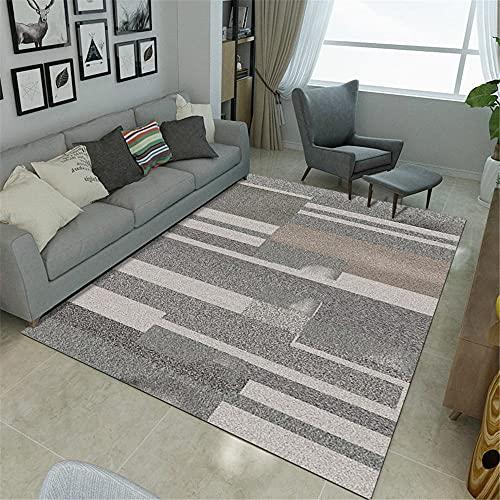 La alfombras Alfombra niño Accesorios del Dormitorio de la Alfombra de la Sala de Estar del Estilo geométrico de la Tinta Gris Rosada Alfombra decoración Dormitorio 50*80cm