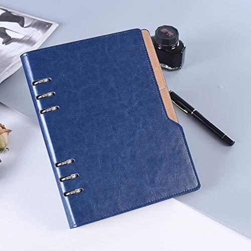 Agenda 2020 Carpeta A5 B5 Cuaderno de bobina Oficina escolar Horario diario Diario de viaje Organizador Planificador Calendario Plan anual-Azul B5_