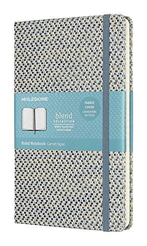 Moleskine - Klassisches Liniertes Notizbuch - Blend Kollektion - Hardcover mit Elastischem Verschlussband - Farbe Blau - Größe A3 13 x 21 - 240 Seiten