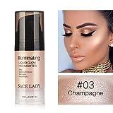 Flüssiger Leuchtmarker Cocohot Glow Illuminator Gesichtslippe erhellen Ultra Glatt Gesicht Make-up...