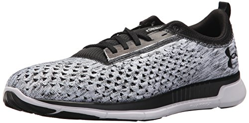 Under Armour Men's Lightning 2 Running Shoe, Black (001)/White, 9