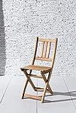 SAM Gartenstuhl Blossom, Akazie-Holz massiv, Holzbank ideal für Balkon Garten Terrasse, zusammenklappbar - 5