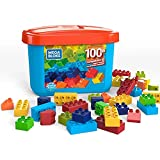 Mega Bloks Caja de 100 bloques de construcción, juguetes niños +2 años (Mattel GJD21)