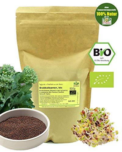 Topfruits BIO Brokkolisamen (500g, Sorte rabe), zur Aufzucht von Brokkolisprossen, hoher Sulforaphangehalt