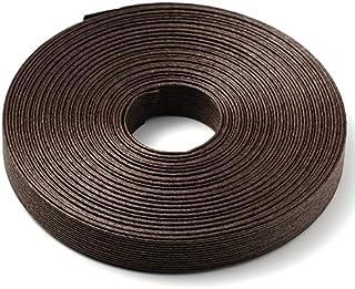 手芸用 エコ クラフトテープ ダークブラウン 50m巻 幅15mm 12芯 バンド テープ 日本製