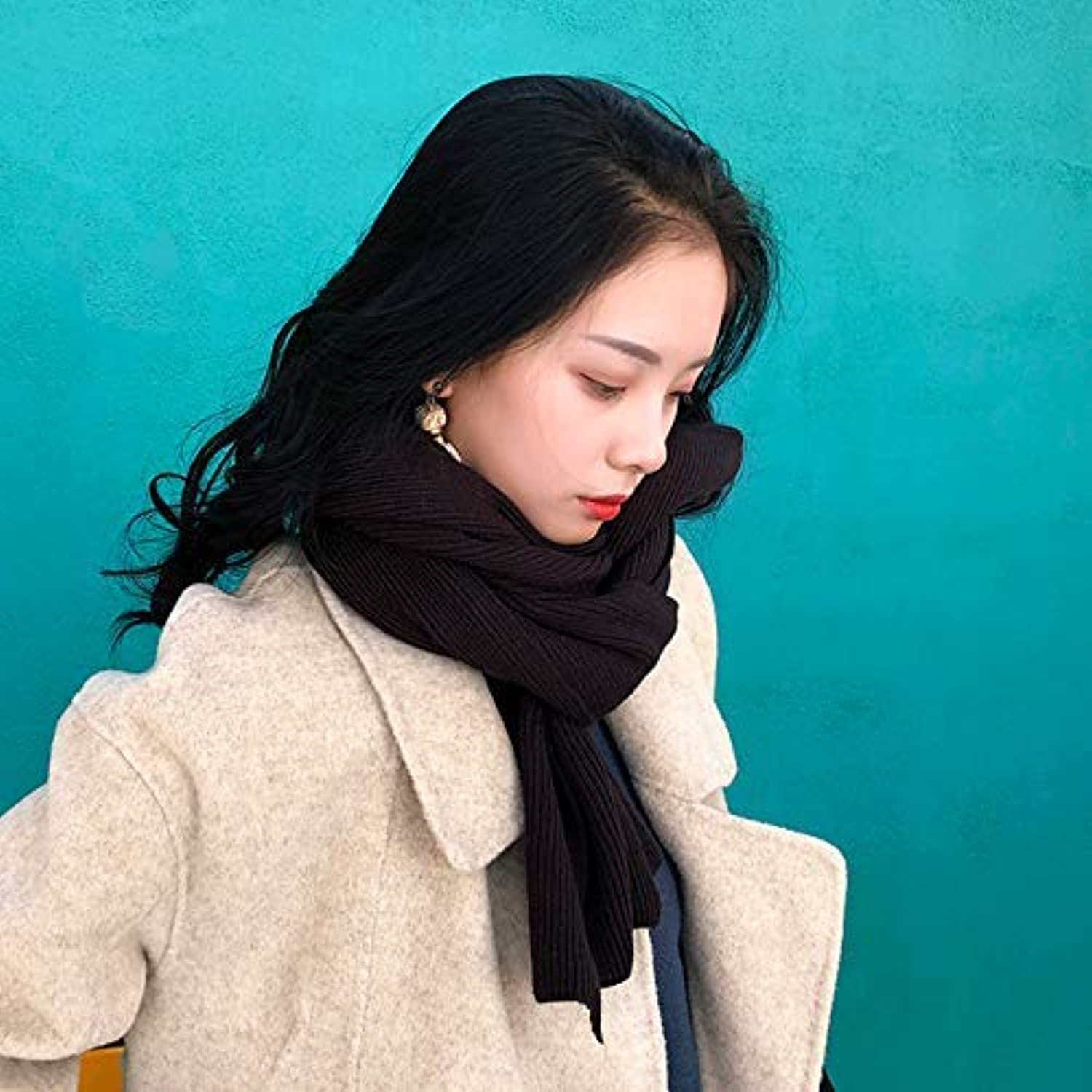 145612ed7e Scarf for Gift Scarf Women's Autumn and Winter Knit Solid color ...