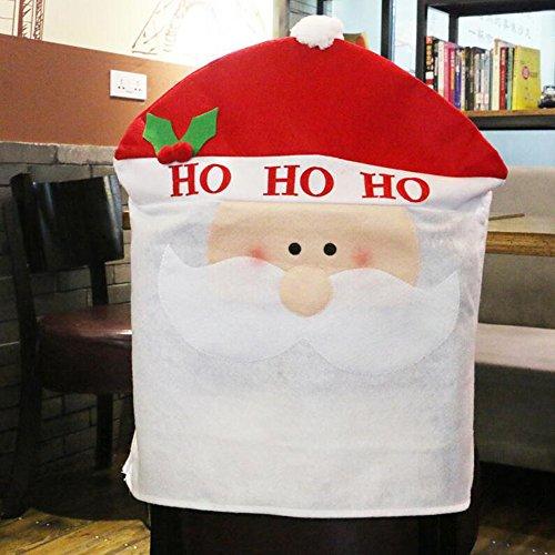 Zhuhaixmy Christmas Red Hat Chair Back Cover Xmas Dining Chair Cap Table Party Decorations Weihnachten Dekorationen Stuhl Zurück Abdeckung
