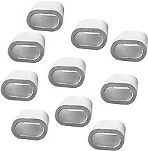 10 x roestvrije aluminium klemmen staaldraad krimphuls glad oppervlak - 3 mm