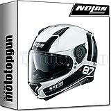NOLAN CASCO MOTO INTEGRALE N87 PLUS DISTINCTIVE METAL BLANCO 022 SZ. XXL