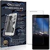 OnScreen Schutzfolie Panzerglas kompatibel mit Phicomm Energy 4s Panzer-Glas-Folie = biegsames HYBRIDGLAS, Bildschirmschutzfolie, splitterfrei, MATT, Anti-Reflex - entspiegelnd
