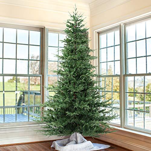 OasisCraft 7.5ft Aspen Fir Artificial Christmas Tree Unlit (Unlit, 7.5FT)