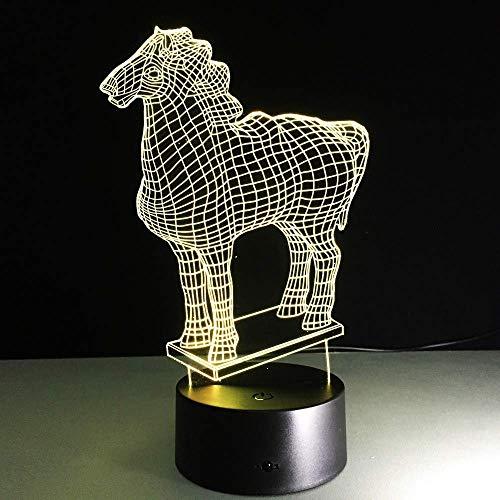 3D hanglamp, dimbaar, nachtlampje, creatief cadeau voor festivals, decoratie voor thuis, bureaulamp, USB-powerbank