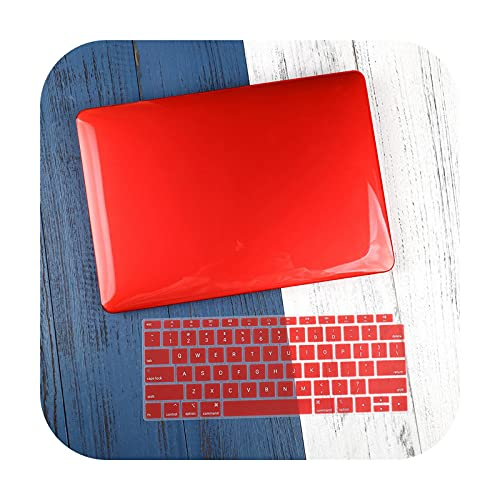 Funda para portátil Pro Retina 11 12 13 15Pro 13.3 Touch Bar 2020 A2338 A2337 M1 A2159 A2338 Cubierta de teclado - Cristal rojo modelo A1502