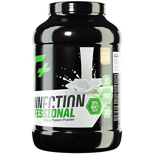 ZEC+ Whey Connection Professional – 1000 g, Proteinpulver aus Whey Konzentrat & Whey Protein, Protein Shake mit Eiweißpulver & Aminosäuren (BCAAs), Geschmack Peanut Butter