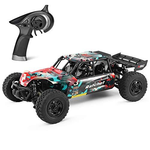 HBX 1:18 ferngesteuertes Auto für Erwachsene und Kinder, 36km/h, 4WD Elektrofahrzeug, 2,4 GHz Funkfernsteuerung, ferngesteuerte Geländewagen, wasserdichte geländegängige ferngesteuertes LKW (Rot)