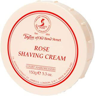 Taylor of Old Bond Street Rose Shaving Cream Jar, 5.3-Ounce