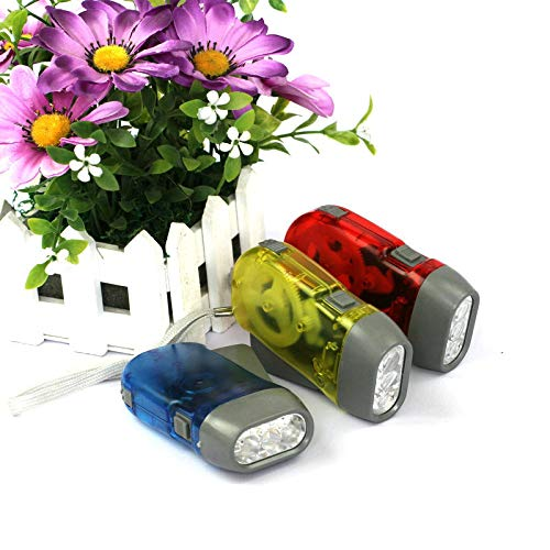 Handpresse Drei-Lampen-Taschenlampe Handpresse Stromerzeugung Taschenlampe Kunststoff-Taschenlampe LED-Taschenlampe