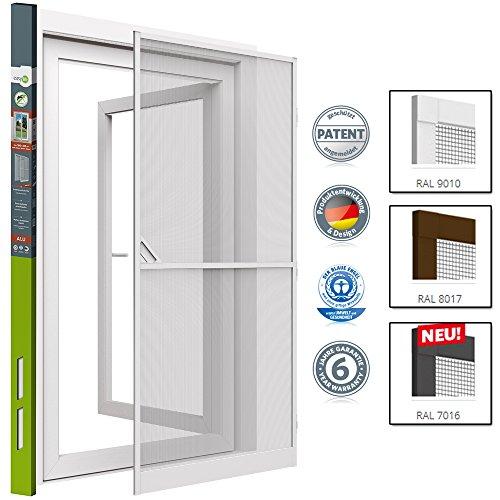 Insektenschutz Tür Türen mit Alurahmen 100 x 215cm proLINE weiß