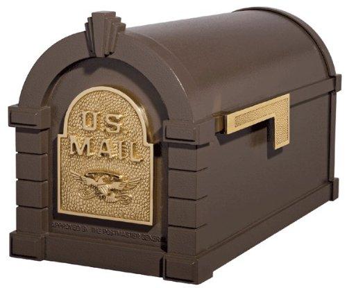 Gaines KS-4A - Eagle Keystone Series Mailboxes - Bronze/Polished Brass