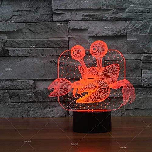 Lampada Phantom 3D Lampada Granchio Porta Regalo Glühlampe Prodotto creativo Lampada da scrivania 3D Lampada da tavolo per soggiorno per Bambini