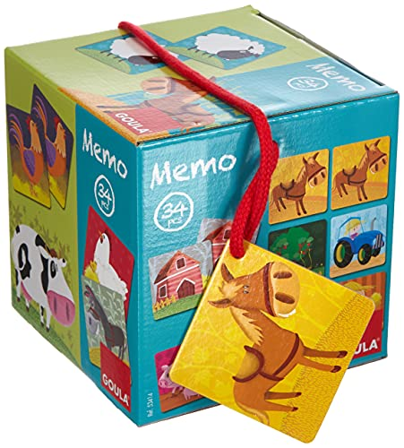 Goula- Memo: Loto Animales Granja Juego para Niños, Multicolor (53414) (Juguete)