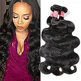 Mscove Brazilian Body Wave 3 Bundles 16 18 20 inch 100% Vingin Human Hair Bundles Brazilian Weave Hair Human Bundles Body Wave Natural Color …