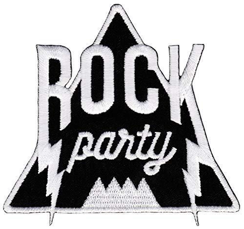 Parche bordado para planchar con diseño de música rock, 8,5 x 8,0 cm