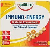 Equilibra Integratori Alimentari, Immuno Energy, Integratore per la Normale Funzione del Sistema Immunitario a Base di Sali Minerali e Vitamine, Riduce Stanchezza e Affaticamento, 14 Bustine