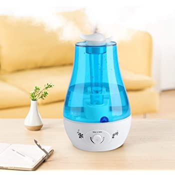 Ultrasonic Humidifier, 3L Air Humidifier Diffuser Mini Capacity Adjustable Cool Mist Mode Air Purifier Colorful LED Light for Spa Home Baby Room