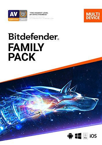 Bitdefender Family Pack - 15 Devices   1 year Subscription   PC/Mac   Activation Code by email