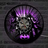 ROMK Reloj de Vinilo Estilo Antiguo Batman y Catwoman Reloj de...