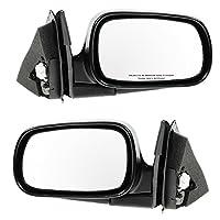 Black Power Side View Mirror Left/Right Pair Set for Accord 4 Door Sedan Wagon