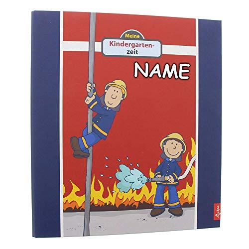 goldbuch personalisiert mit Name - Kindergartensammelordner, Frido Firefighter, A4, Mit 4 illustrierten Trennblättern, 5,5 cm Rückenbreite, Kunstdruck laminiert mit UV-Lack, Rot, 35445